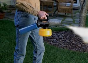 man uses mosquito killer