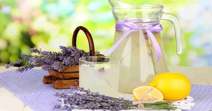 Lavender oil, vanilla, and lemon juice
