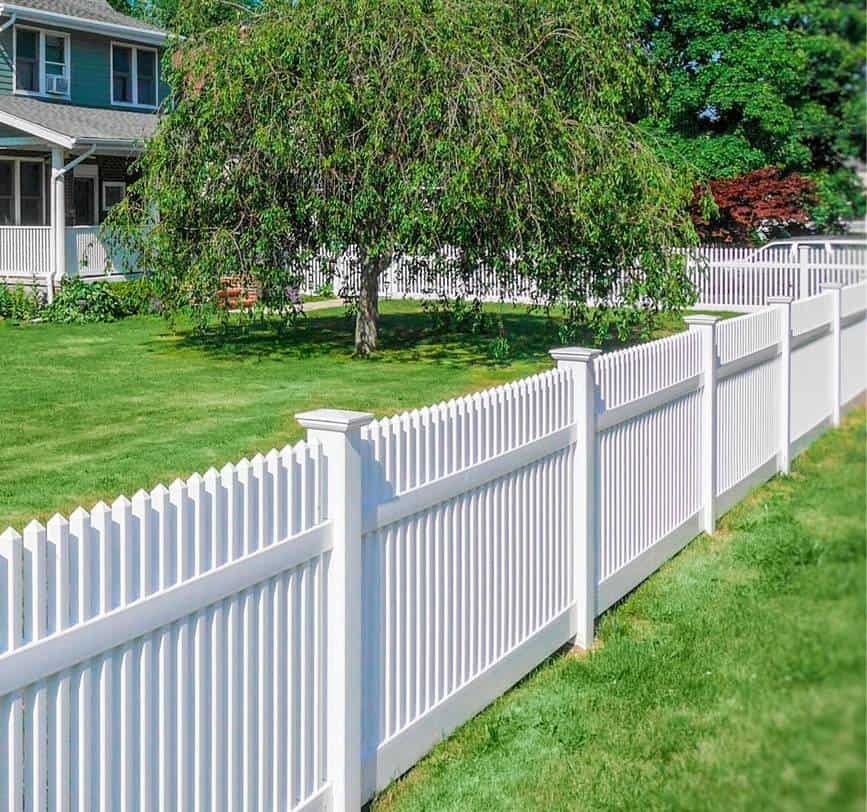 a-white-fence