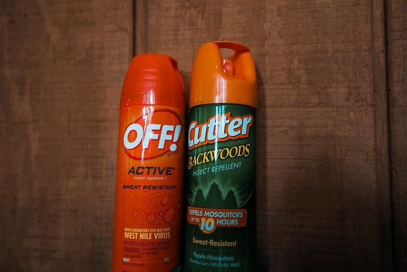 pair of mosquito repelling sprays