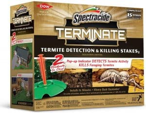 Spectracide 96115 Terminate Termite Detection and Killing Stakes